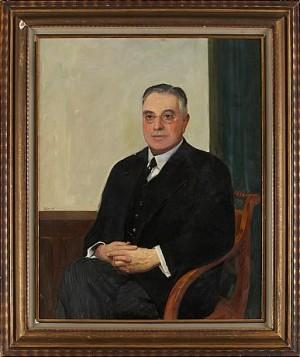 Porträtt Föreställande Axel Leman (1871-1957) by Robert LÖFGREN