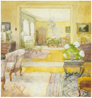 Interior From The Apartment At Blasieholmskajen by Elsa CELSING-BACKLUND