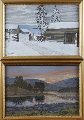 Vinterlandskap Resp Insjölandskap by Anders ALTZAR