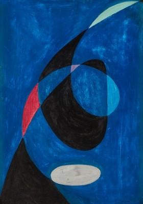 Piruette För Två Linjer-blått Tema by Pierre OLOFSSON