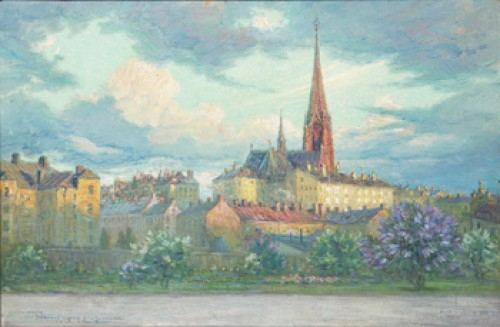 Stockholm. Johannes Kyrka Sedd Från Jarlaplan by Erik TRYGGELIN