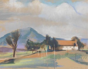 Landscape With A Mountain In The Background by Karl Josef GUNSAM
