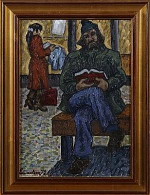 Läsande Väntan by Christer SCHMITERLÖW