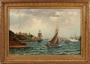 Stockholms Inlopp Med Drott Och Slottet I Fonden by Alfred WETTERSTRÖM