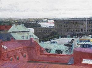 Stockholmsvy över Slottet by Bo LARSSON