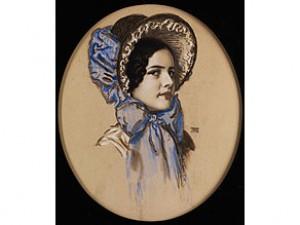 Portrait Der Tochter Mary by Franz Von STUCK