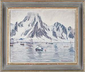Dimman Lättar. Svolvaer (i Lofoten) by Oskar HULLGREN