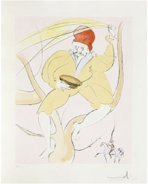 Japanese Fairy Tales, The Complete Suite With 10 Drypoint Etchings by Salvador DALI