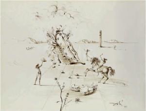 Le Cavalier Cosmique by Salvador DALI