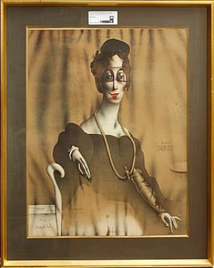 Komposition Med Kvinna by Paul WUNDERLICH