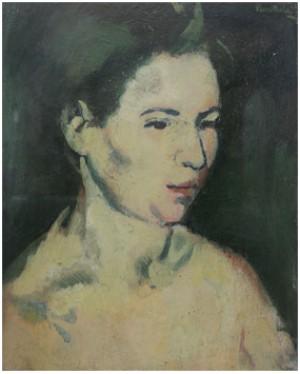 Porträtt Av Kvinna by Sixten 'Sl' LUNDBOHM