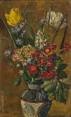Stilleben Med Blommor I Vas by Anna MUNTHE NORSTEDT