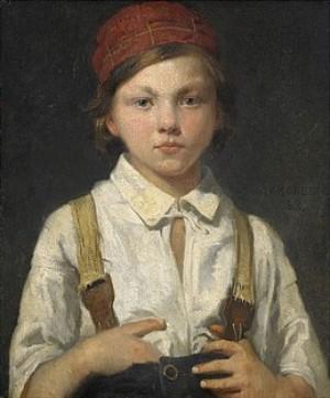 Porträtt Av Gosse by Julius KRONBERG