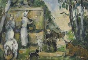 La Fontaine by Paul CÉZANNE