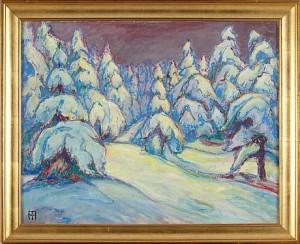 Skogslandskap I Vinterskrud by Alfred Hermann HELBERGER