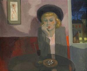 Flicka På Café by Pelle ÅBERG
