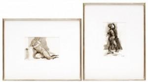 Kvinnostudier, Två (2) Stycken by John-Erik FRANZÉN
