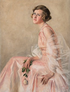 Girl In A Pink Dress by Louis SPARRE