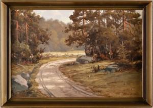 Landskap Med Väg by Arthur HEICKELL
