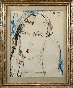 Kvinnoporträtt by Aly Ben SALEM