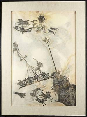 Krigsscen by Ossian ELGSTRÖM