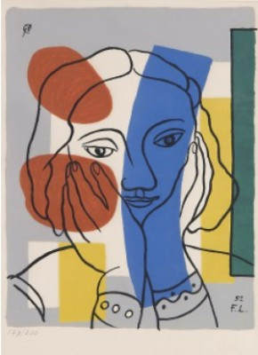 """Untitled From The Series """"album Of 10 Serigraphs"""" by Fernand LEGÉR"""