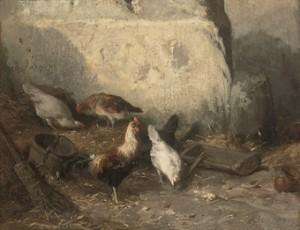 Coqs Et Poulets by Charles Emile JACQUE