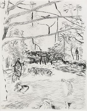Le Parc Monceau by Pierre BONNARD