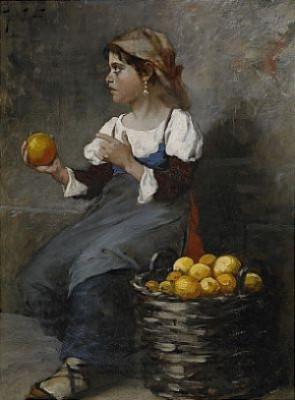 Fruktförsäljerskan by August HAGBORG
