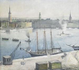Vy Från Södermälarstrand Mot Gamla Stan - Stockholm by Carl LUTHANDER