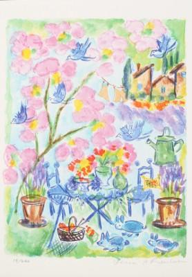 Trädgård I Full Blom by Lena LINDERHOLM