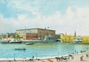 Vy över Stockholms Slott Från Blasieholmen. by Anna PALM DE ROSA