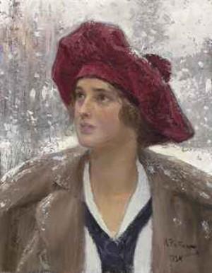 Portrait Of Natalia Maksimova by Ilya Efimovich REPIN