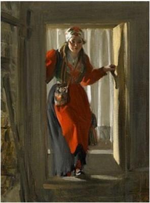 Ols-maria I Kuvådörren by Anders ZORN