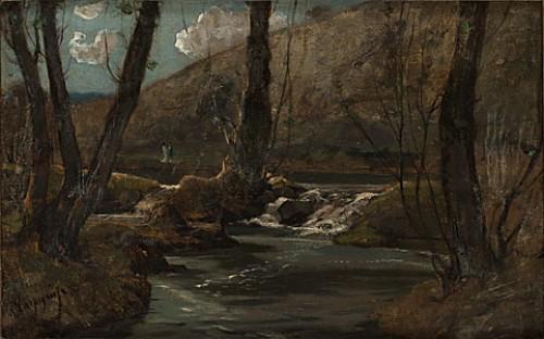 Landskap Med Bäck by Henri Joseph HARPIGNIES
