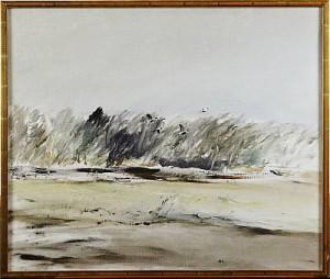 Landskap Med Fåglar by Olle LINDGREN