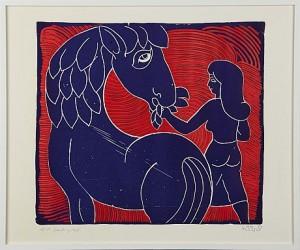 Kvinde Og Hest by Henry HEERUP
