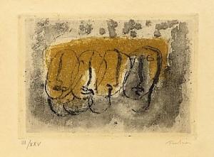 (2) Quatre Visages. Petit Nu L by Jean FAUTRIER