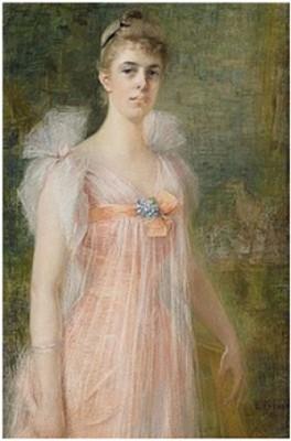 Porträtt Av Ung Dam I Rosa Klänning by Elisabeth KEYSER