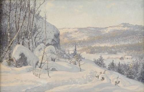 Vinterdag I Dalarna by Anshelm SCHULTZBERG