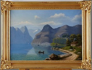 Alplandskap Med Sjö by Fredrik ISBERG