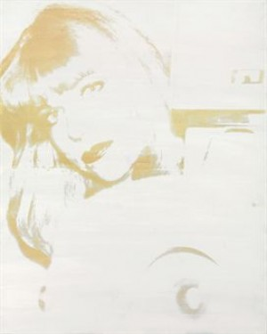 Portrait Of Linda Cossey With Camera by Andy WARHOL