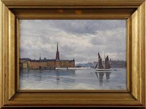 Utsikt Mot Riddarholmen - Stockholm by Bernhard OSCARSSON
