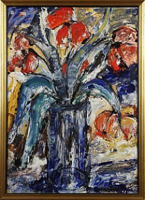 Stilleben Med Blommor by Monica LORENTZON