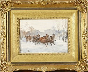 Hästslädar by Wladyslaw CHMIELINSKI