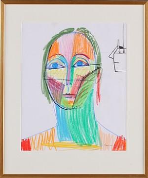 Skiss, Ansikte by Erling 'Erling J' JOHANSSON