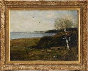 Betande Får I Landskap by John Robertson REID
