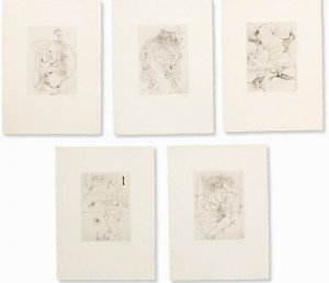 Portfolio With 10 Etchings 'à Sade by Hans BELLMER