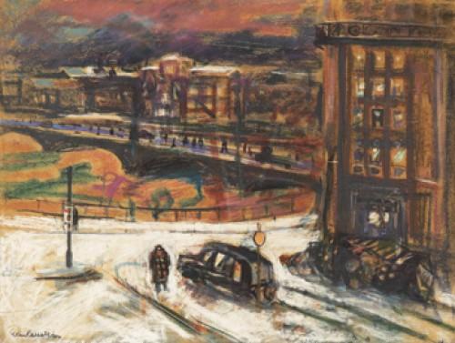 Tegelbacken I Vinterskrud by Eric HALLSTRÖM