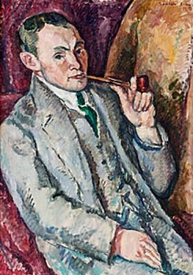 Porträtt Av Isländaren V. Thorsteinsson by Gösta SANDELS
